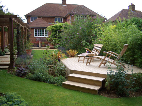 Landscaping Ideas For Long Narrow Areas After Gardens Wish Garden